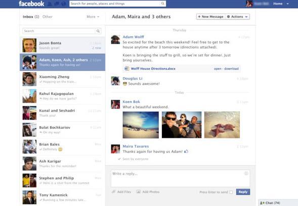 facebook-mesaj-yenilik