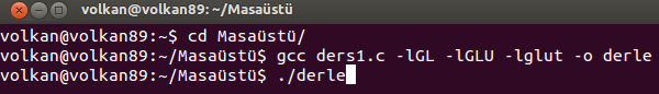 linux opengl derle compile
